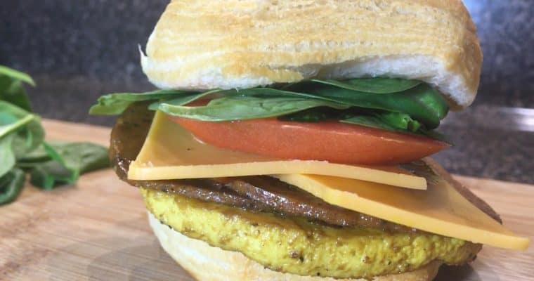 THE ULTIMATE VEGAN EGG PATTY