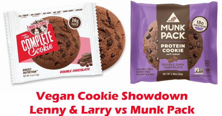 Vegan Protein Cookie Showdown – Lenny & Larry vs Munk Pack