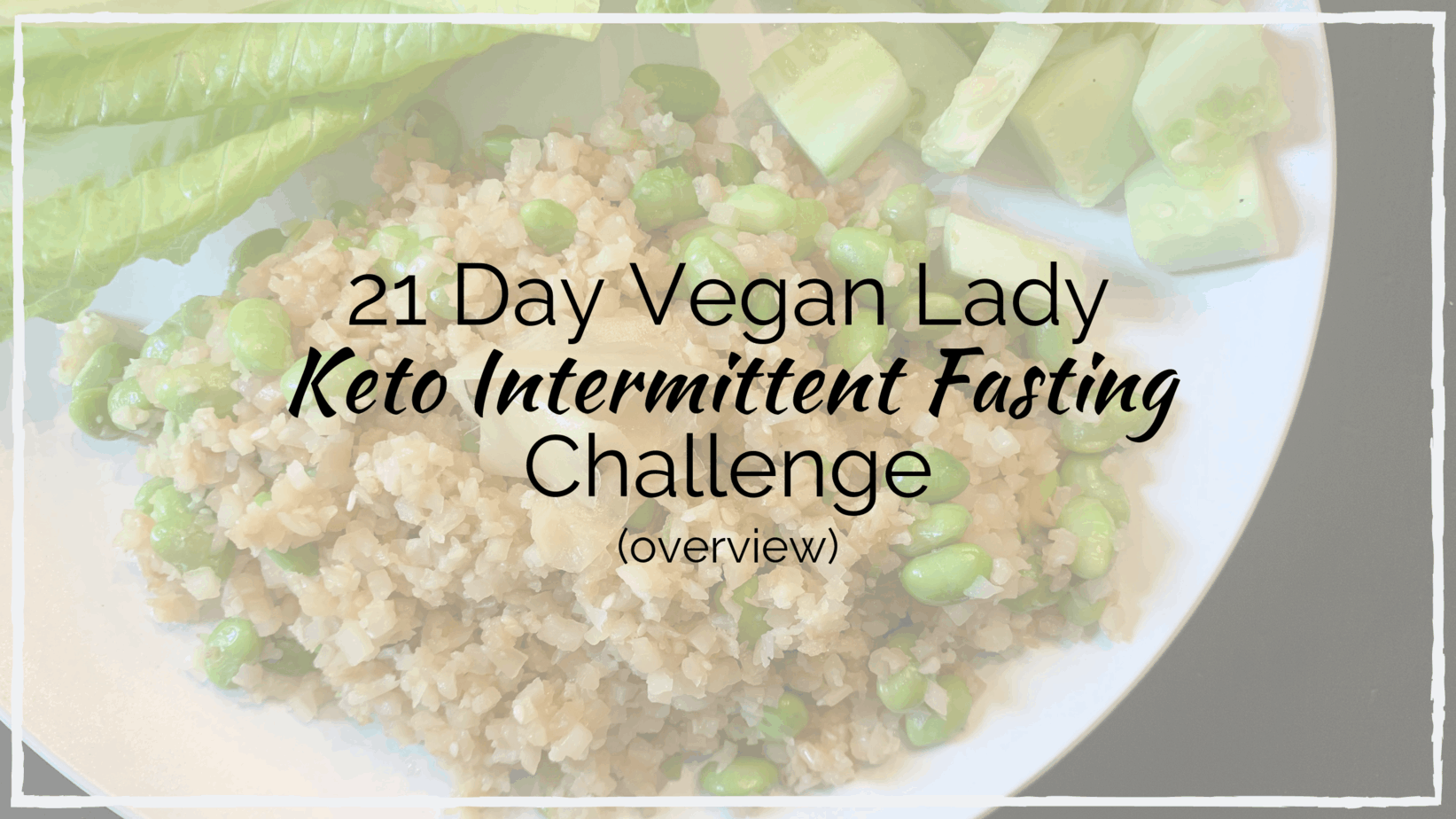 21 Day Vegan Keto Intermittent Fasting Challenge Overview