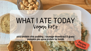What I Ate Today Vegan Keto